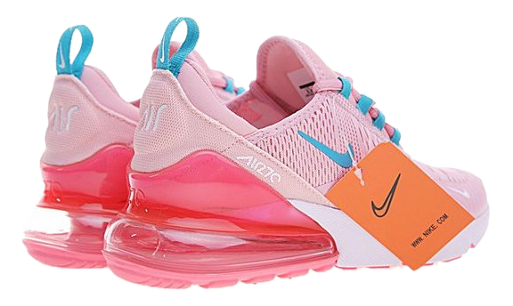 Фото Nike Air Max 270 Розовые с Голубым - 2